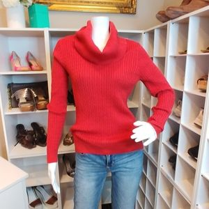JEANNE PIERRE RIBBED COWL NECK S